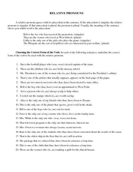 Antecedent Worksheets Free Worksheets Library | Download and Print ...