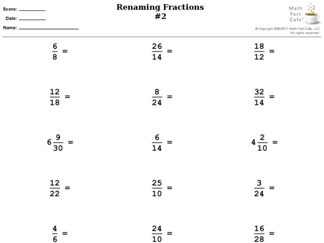 reducing fractions worksheet 4th grade Termolak – Reducing Fractions Worksheet 5th Grade