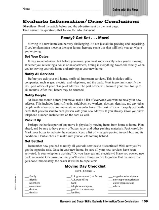 Worksheets Drawing Conclusions Worksheets 5th Grade research and study skills evaluate informationdraw conclusions 4th 5th grade worksheet lesson planet