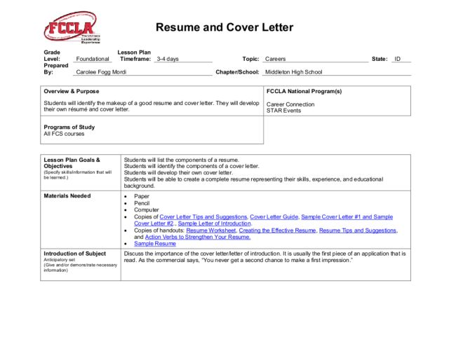 teachers sample resume teacher cover letter examples with resume lesson plan