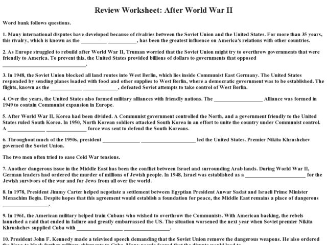 Printables World War Ii Worksheets world war ii worksheets davezan review worksheet after 9th 12th grade worksheet