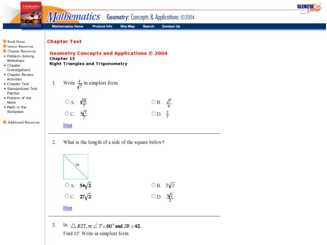 Trigonometry Special Right Triangles Worksheet Right Triangle Trigonometry