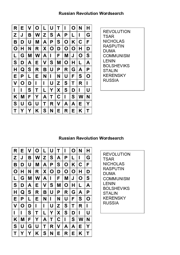 Worksheets Russian Revolution Worksheet russian revolution worksheet intrepidpath wordsearch 7th 12th grade lesson