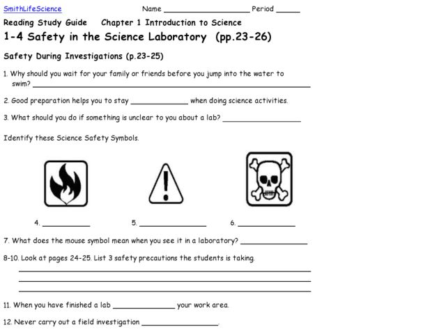 Safety In The Laboratory Worksheet Free Worksheets Library ...