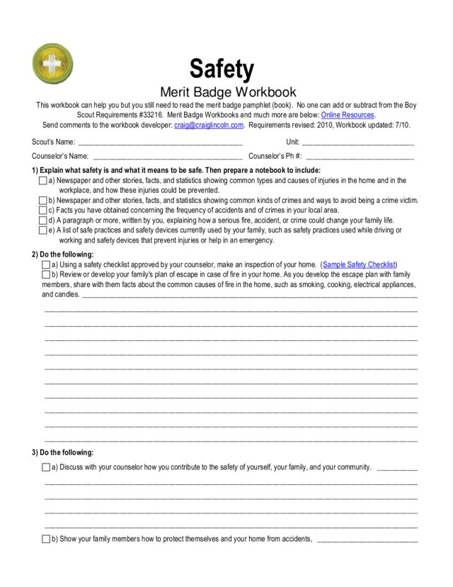 Printables Merit Badge Worksheets Joomsimple Thousands of – Family Life Merit Badge Worksheet
