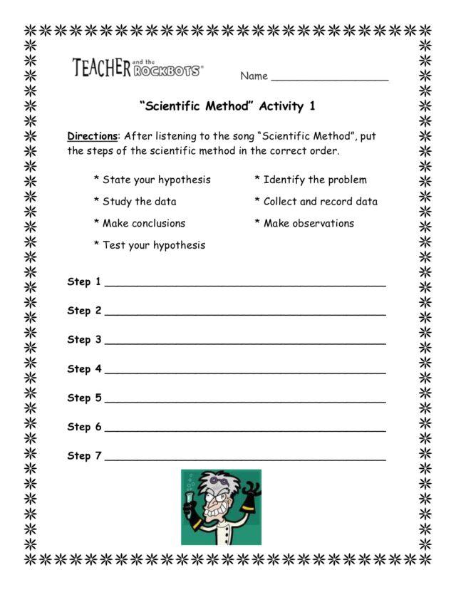 3rd Grade Scientific Method Worksheet Templates and Worksheets – Scientific Process Worksheet