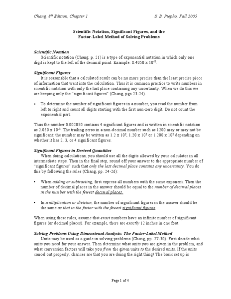 Dimensional analysis factor label method worksheet answers