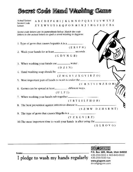 all worksheets germs for kids worksheets printable worksheets guide for children and parents. Black Bedroom Furniture Sets. Home Design Ideas