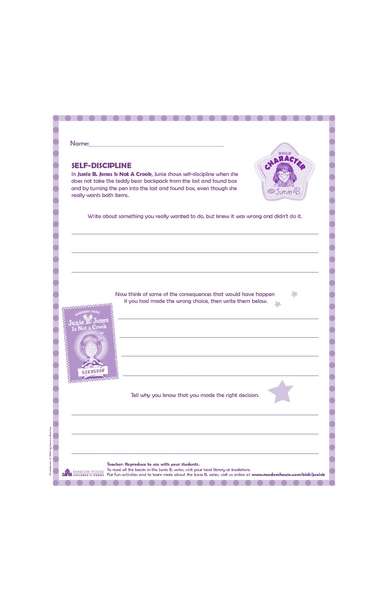Self Discipline Lesson Plans & Worksheets Reviewed by Teachers