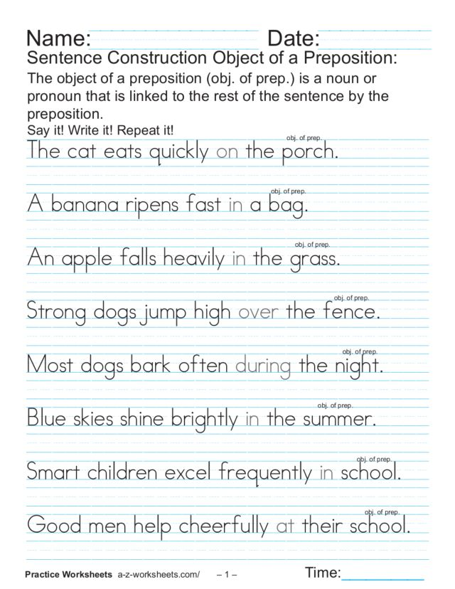 Copy Sentences Worksheets - Davezan