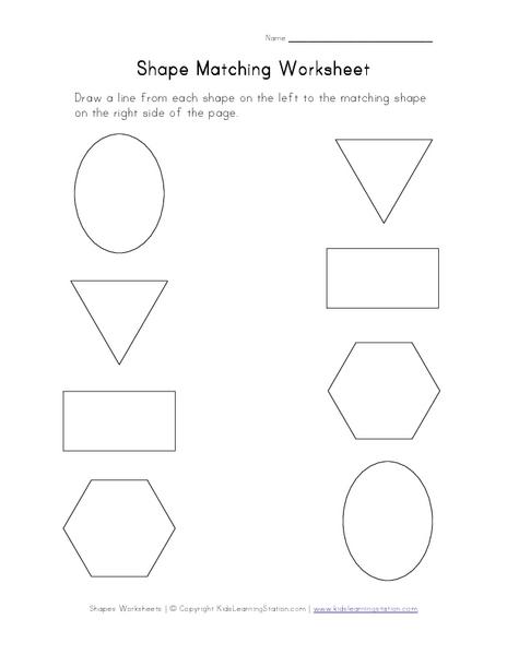 number names worksheets shape matching worksheet free printable worksheets for pre school. Black Bedroom Furniture Sets. Home Design Ideas