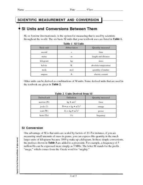28 si units worksheet learn about s i units si units conversion worksheet abitlikethis. Black Bedroom Furniture Sets. Home Design Ideas