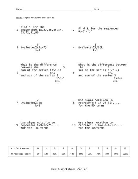 Writing Series In Sigma Notation Worksheet Bioshock Infinite 1080p