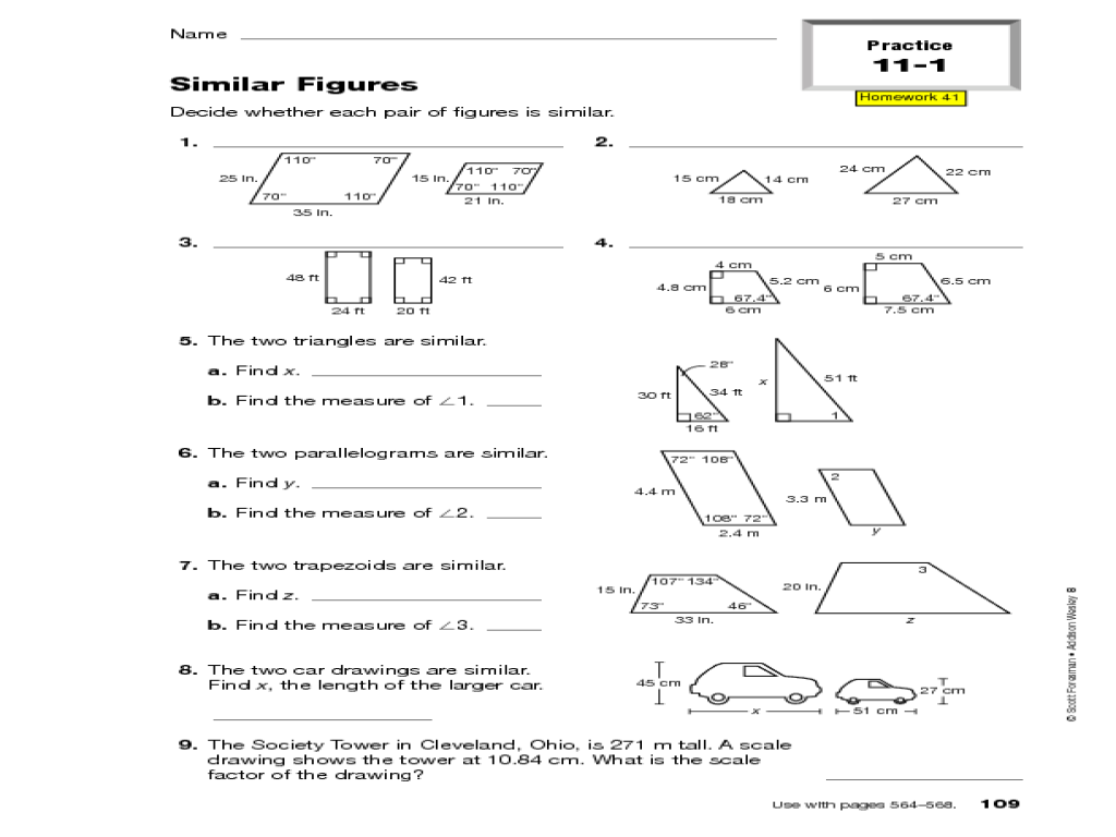 similar figures worksheet - Termolak