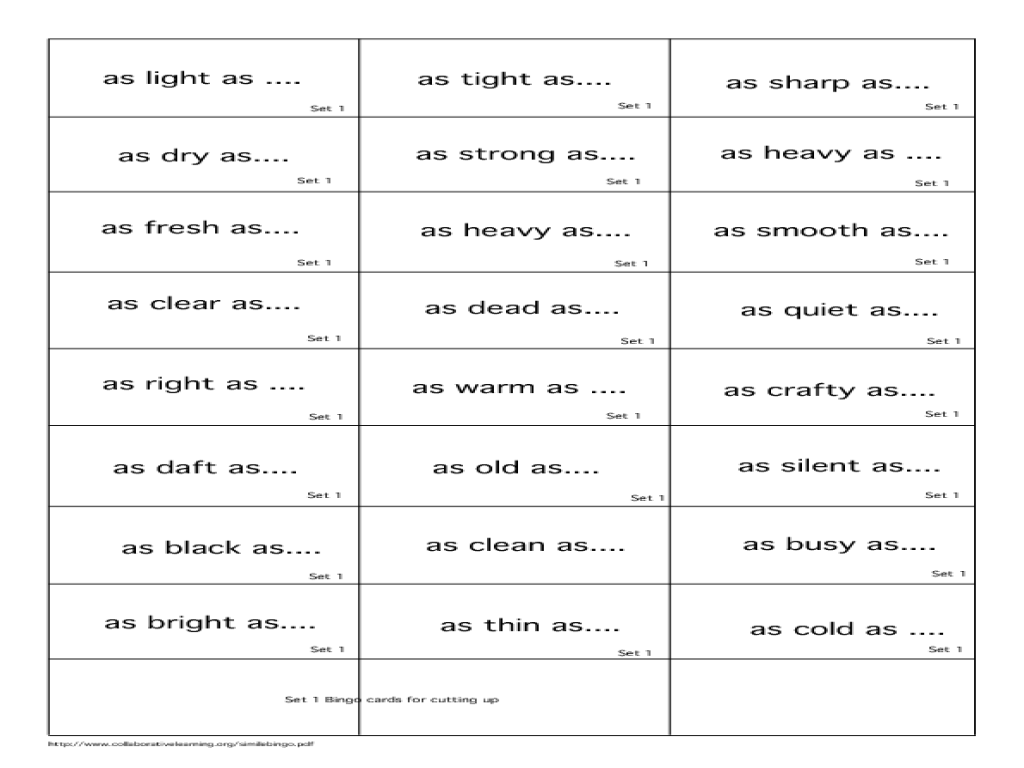 worksheet Simile Worksheets matching simile worksheet for kids worksheets joseph