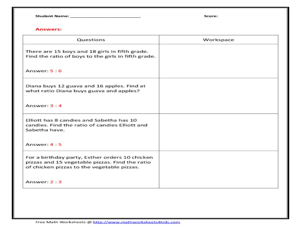 Ratio Practice Worksheet 031 - Ratio Practice Worksheet