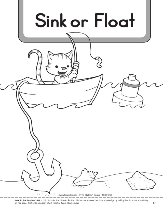 Printables Sink Or Float Worksheet sink or float pre k kindergarten worksheet lesson planet