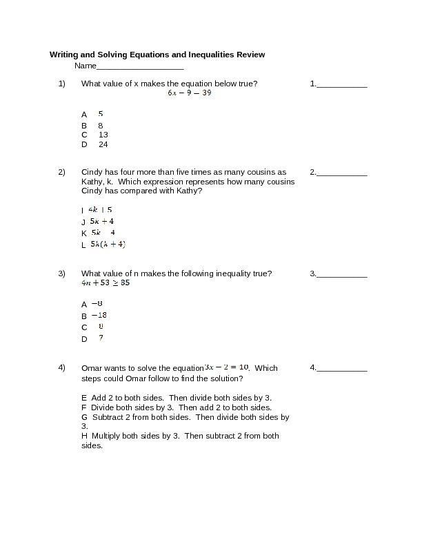 Solving Equations X On Both Sides Worksheet Tes Jennarocca – Solving Equations with Variables on Both Sides Worksheet