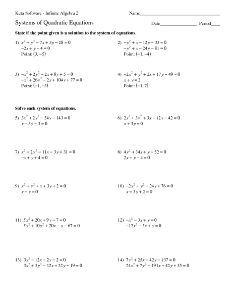 Printables Quadratic Equations Worksheet quadratic equations worksheet davezan problems davezan