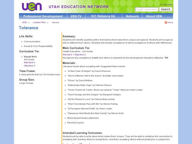 Teaching For Tolerance Lesson Plans - Lawteched