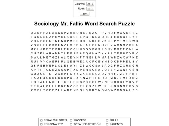 Sociology Worksheets - Synhoff