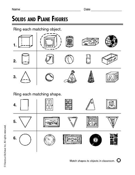 3 Dimensional Shapes Worksheets Kindergarten - The Best and Most ...