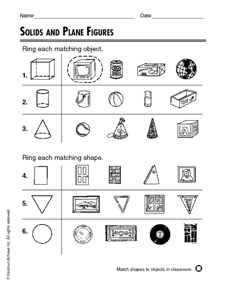 Printables Three Dimensional Shapes Worksheets and three dimensional shapes worksheets versaldobip two versaldobip