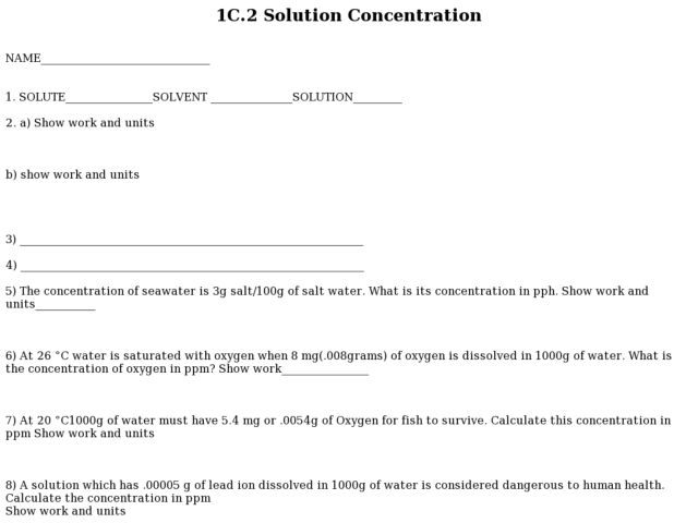 Printables Solution Concentration Worksheet solution concentration worksheet vintagegrn bloggakuten