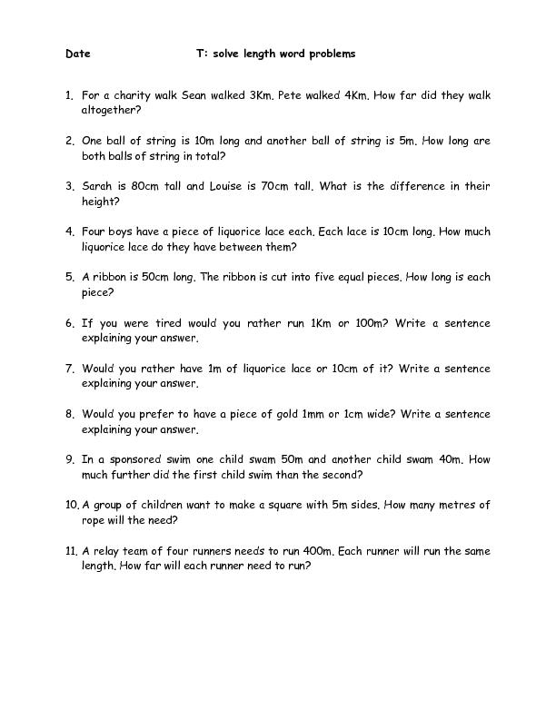 measurement word problems worksheets 4th grade word problems worksheets free printables. Black Bedroom Furniture Sets. Home Design Ideas