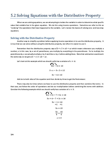 Distributive property with algebraic terms worksheets