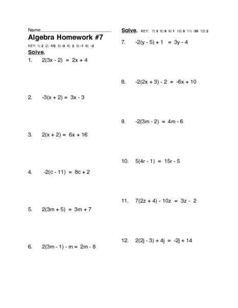 Printables Multi Step Equation Worksheet solving twelve multi step linear equations 10th 12th grade worksheet lesson planet