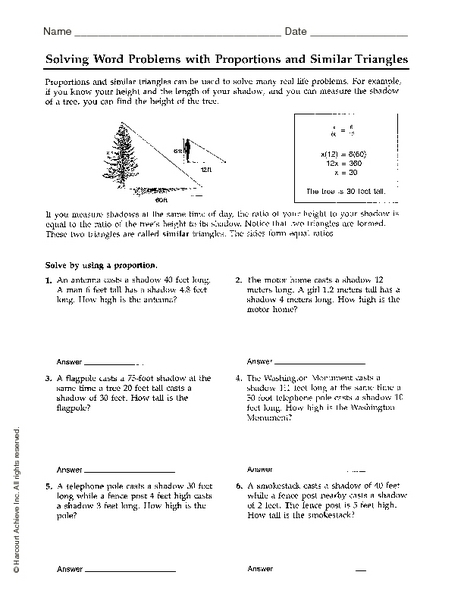 Worksheets Similar Shapes Worksheet Grade 4 similar triangles word problems worksheet grade 9 mathematics module 7 triangle trigonometry