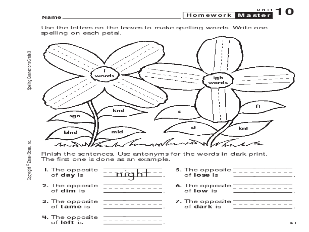 Worksheets Igh Worksheets spelling connections grade 3 igh and i words 3rd 4th worksheet lesson pla