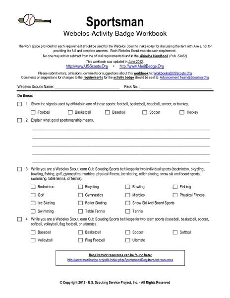 Webelos Forester Activity Badge Worksheets - Worksheets