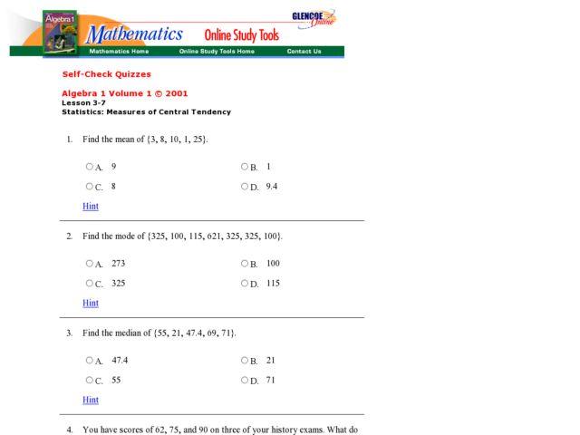 Measures Of Central Tendency Worksheets 8th Grade - Worksheets