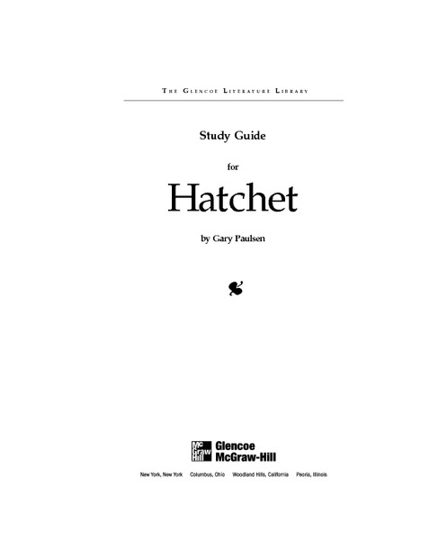 Worksheet Hatchet Worksheets study guide for hatchet 4th 6th grade worksheet lesson planet