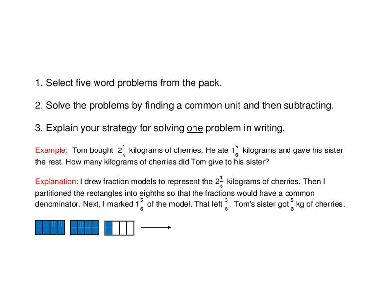 Subtracting Mixed Numbers Unlike Denominators 3rd 7th Grade – Subtracting Mixed Numbers with Unlike Denominators Worksheet