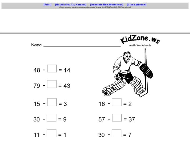 Subtraction Worksheets subtraction worksheets missing digits – Missing Number Subtraction Worksheets