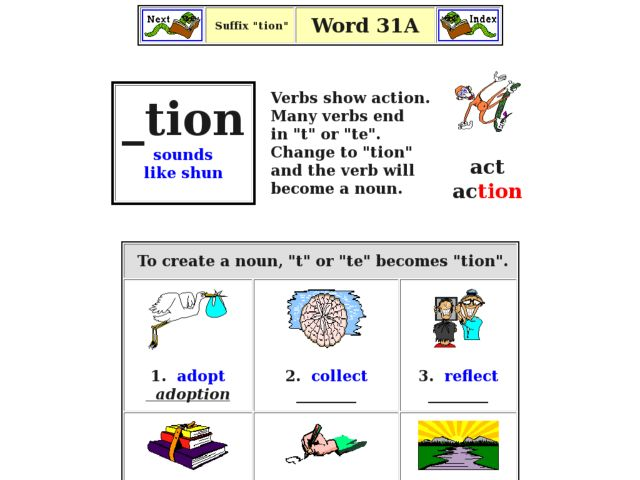 Related Keywords & Suggestions for suffix tion