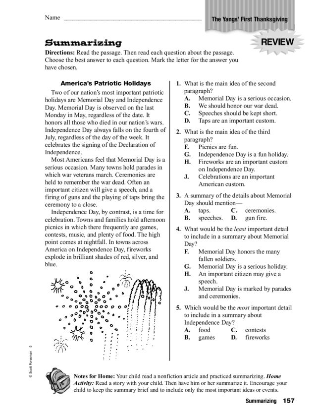 Printables Summarizing Worksheets For 4th Grade summarizing worksheets 4th grade free intrepidpath the yang 39 s first thanksgiving 5th grade