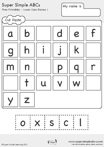 Kindergarten Abc Worksheets Free Worksheets Library | Download and ...