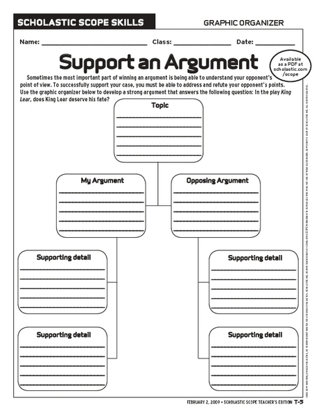 argument essay worksheets Writing an academic essay means fashioning a coherent set of ideas into an  argument because essays are essentially linear—they offer one idea at a.