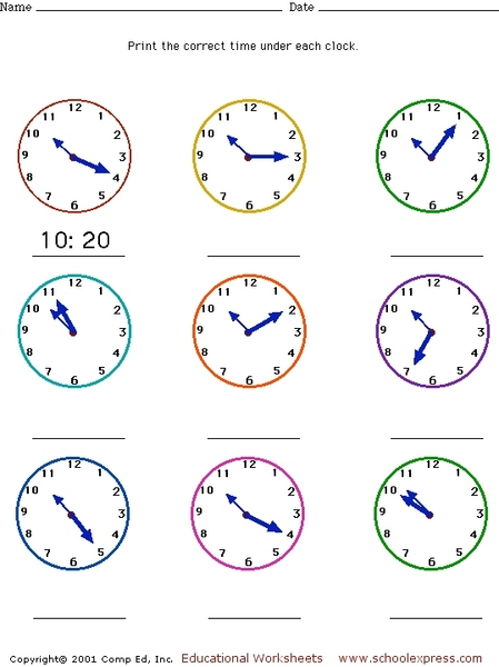 Free Worksheets » Telling Time Worksheets For Grade 2 - Free Math ...