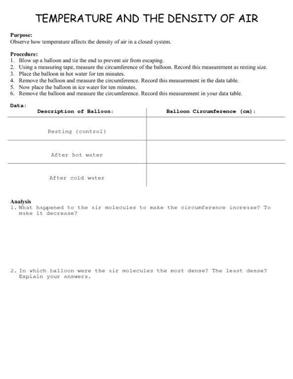 Worksheets On Pressure And Density The Best and Most – Buoyancy Worksheet