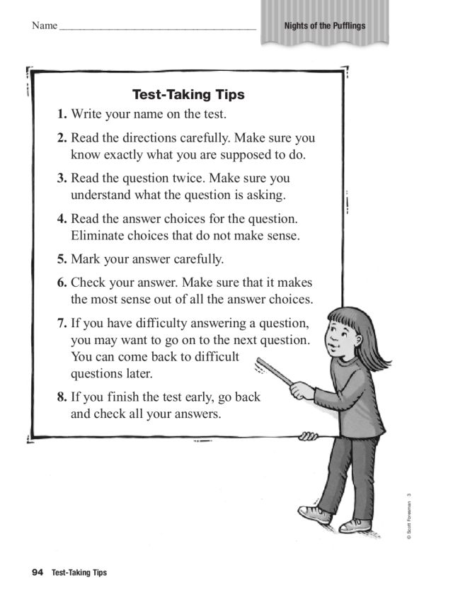 """Test Taking Tips: """"Night of the Pufflings"""" 1st - 3rd Grade ..."""