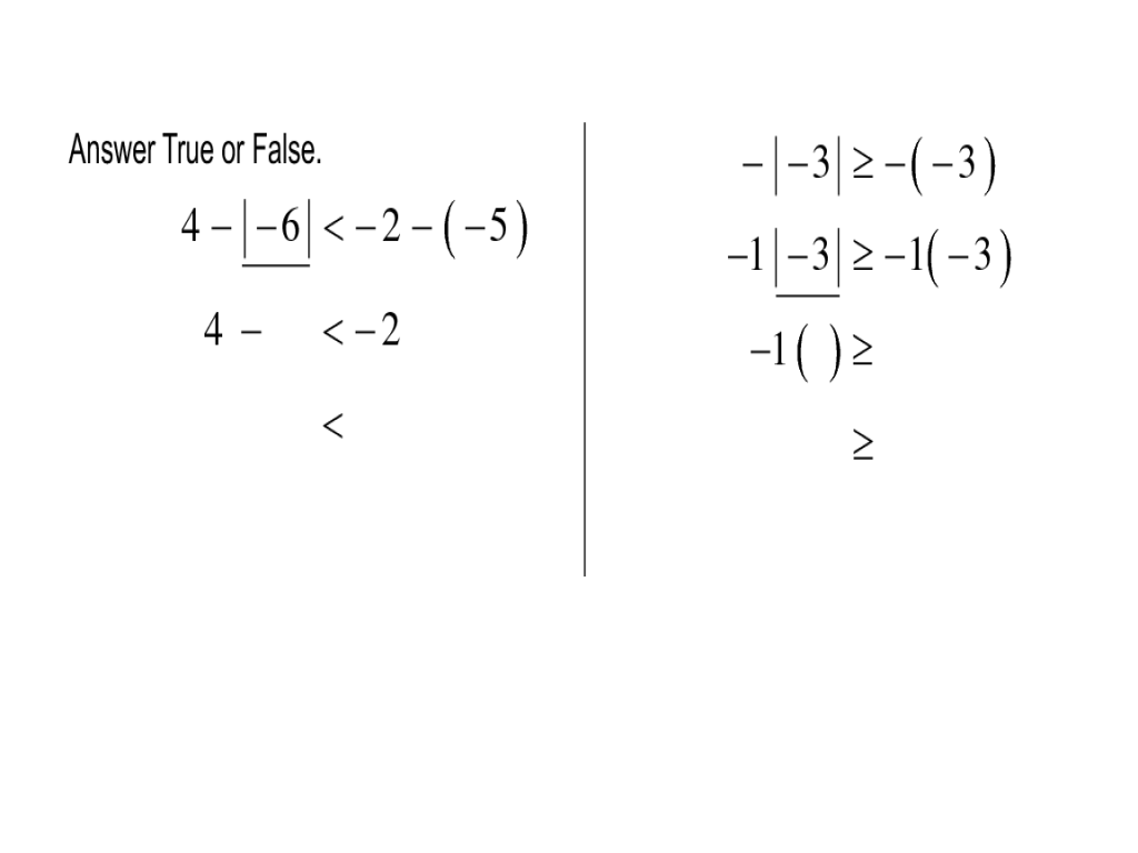 The Additive Inverse or the Opposite of a Number 6th 8th Grade – Additive Inverse Worksheet