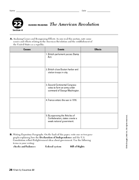 Worksheets American Revolution Worksheet causes of the american revolution worksheet worksheets for school intrepidpath