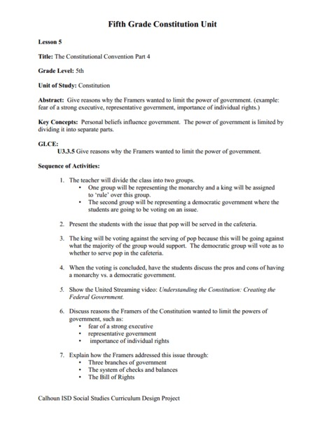 All Worksheets » The Constitutional Convention Worksheet - Free ...