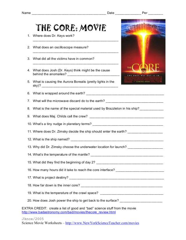 Science Movie Worksheet humorholics – Science Movie Worksheets