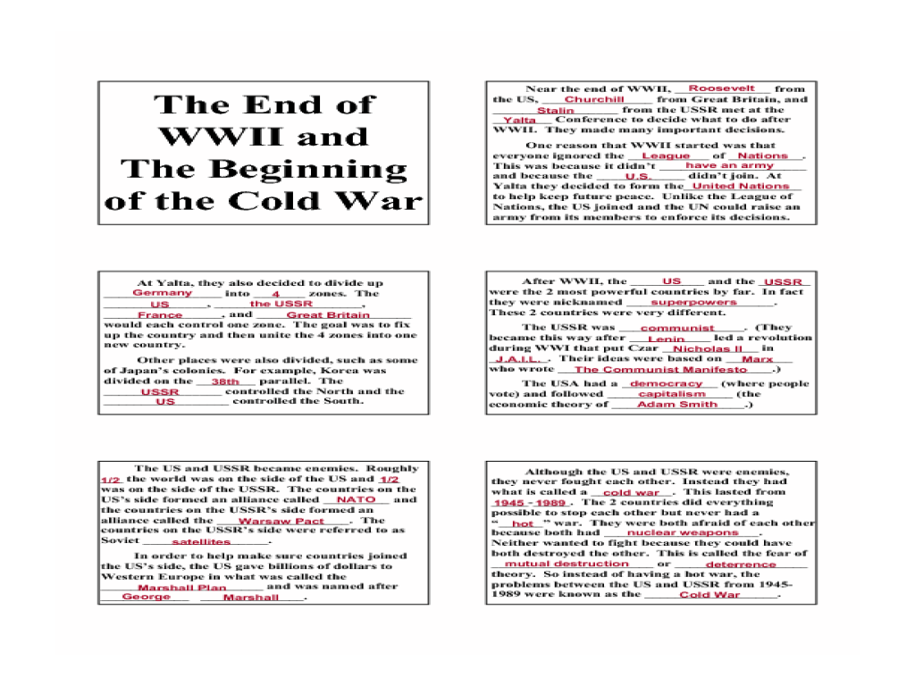 worksheet Cold War Worksheets joindesignseattle Worksheet Site – Wwii Worksheets